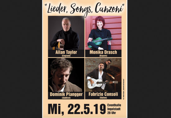 """""""Lieder, Songs, Canzoni"""" mit ALLAN TAYLOR (UK)"""